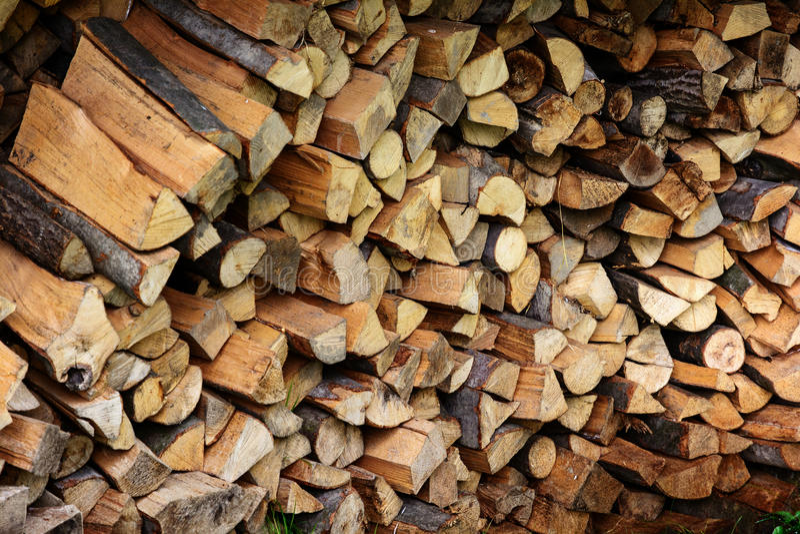 firewood Stockez le bois de chauffage photos stock