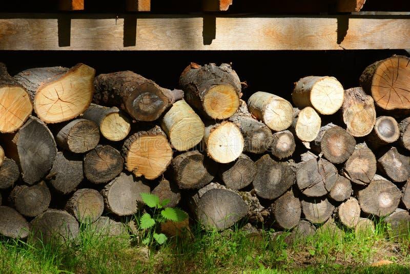 firewood Stockez le bois de chauffage photographie stock