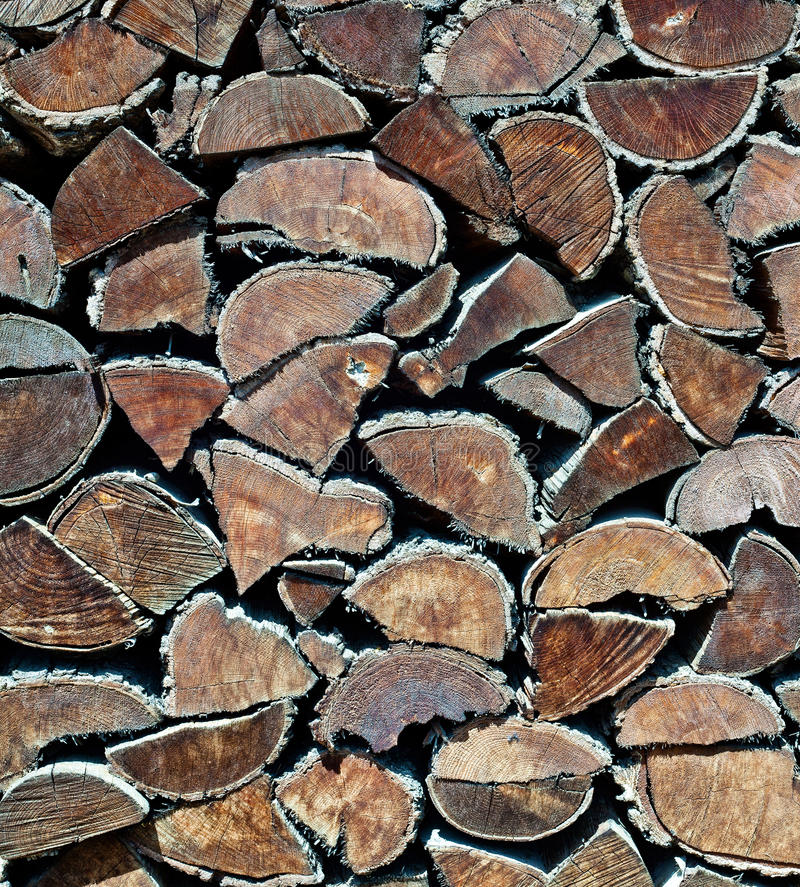 Firewood Texture Stock Photography