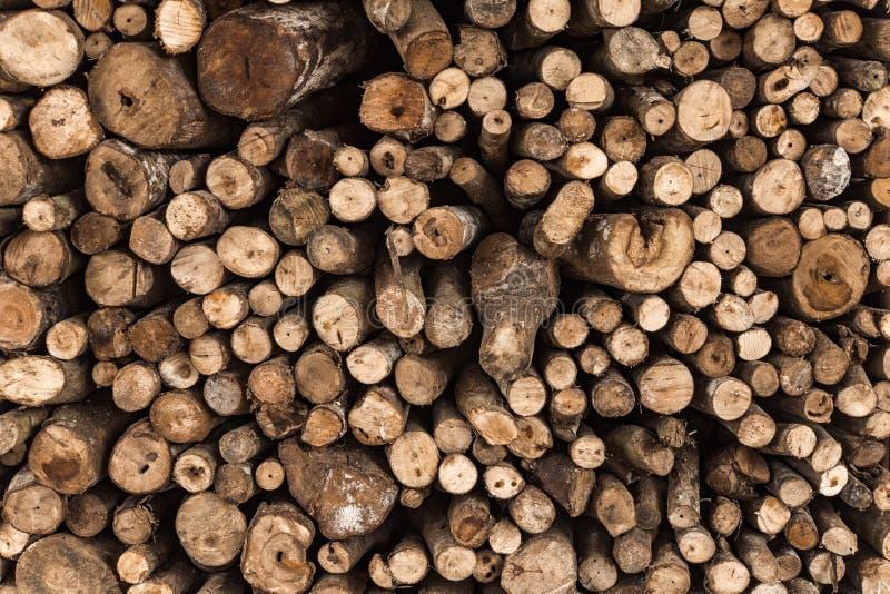Firewood texture logs rural scene brown stock photos