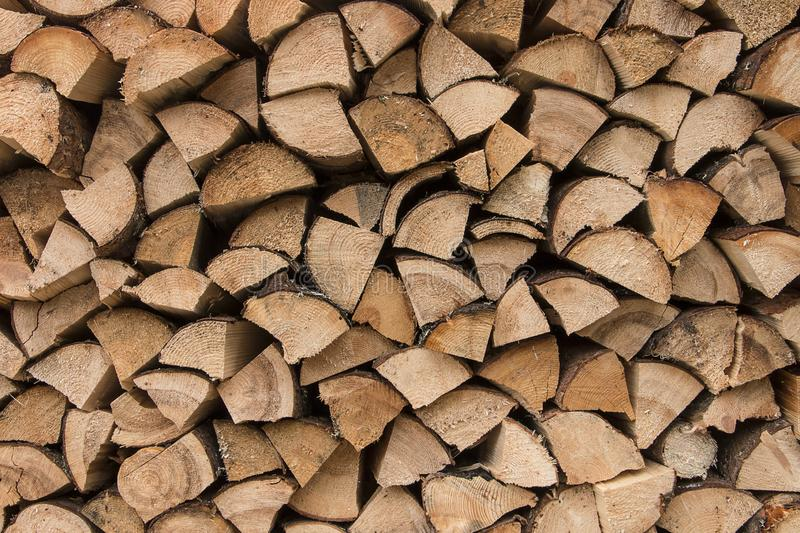 Firewood texture logs rural scene brown background royalty free stock photos
