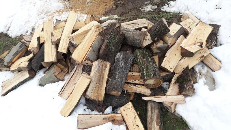 Firewood for winter royalty free stock photos