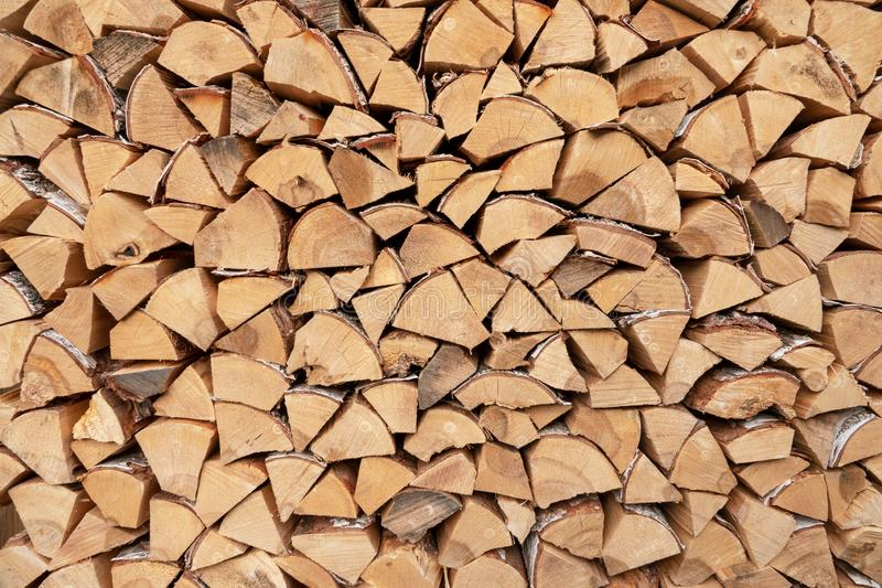 Firewood for the winter, stacks of firewood, pile of firewood stock photos