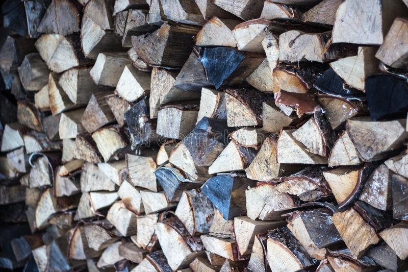 Firewood for the winter, stacks of firewood, pile of firewood. stock photos