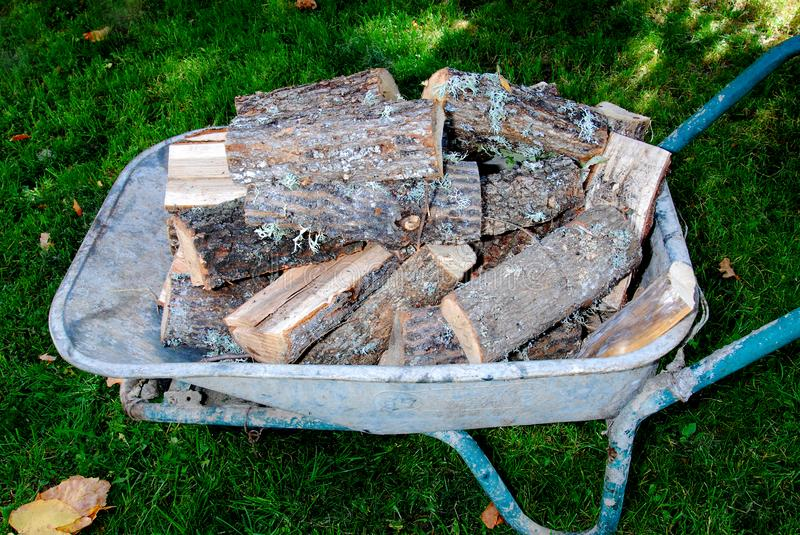 Firewood for the winter, stacks of firewood, pile of firewood royalty free stock images
