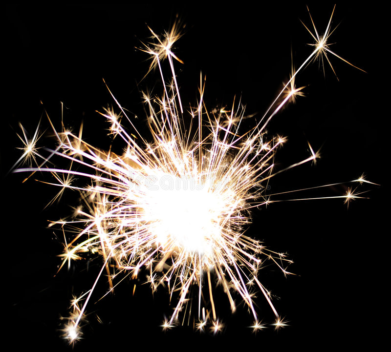 Firework. A detailed cleaned up shot of a firework royalty free stock photography