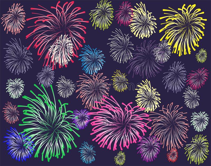 Download Firework stock vector. Image of draw, december, backdrop - 25633972
