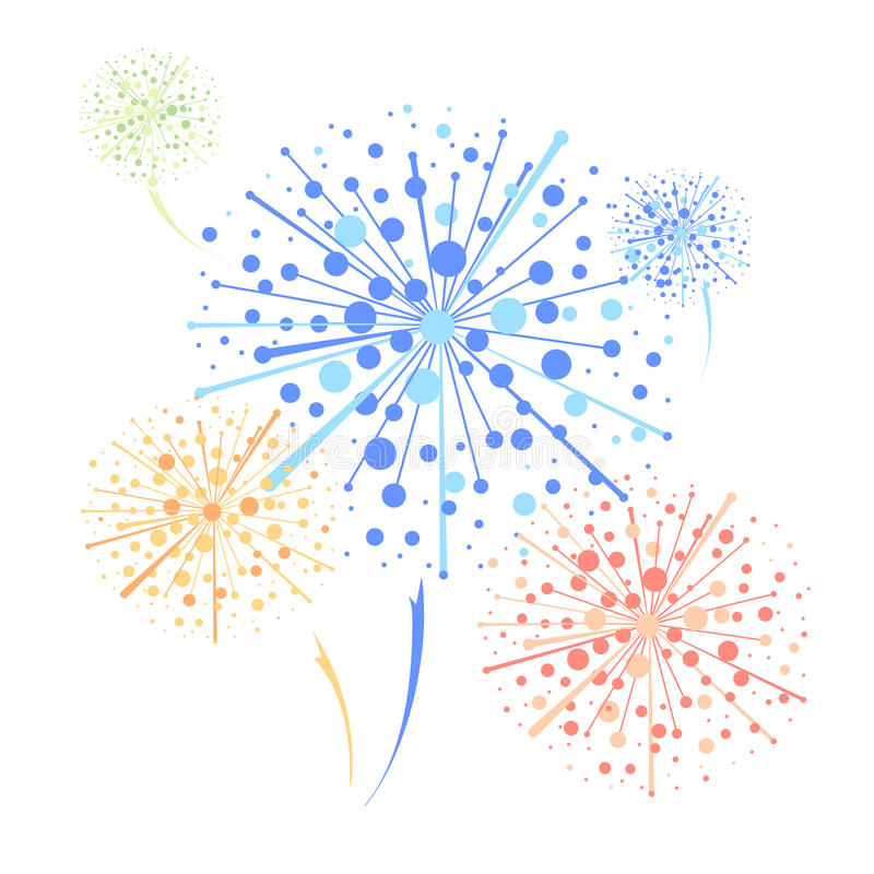 Firework. Abstract decorative festival colorful firework vector illustration