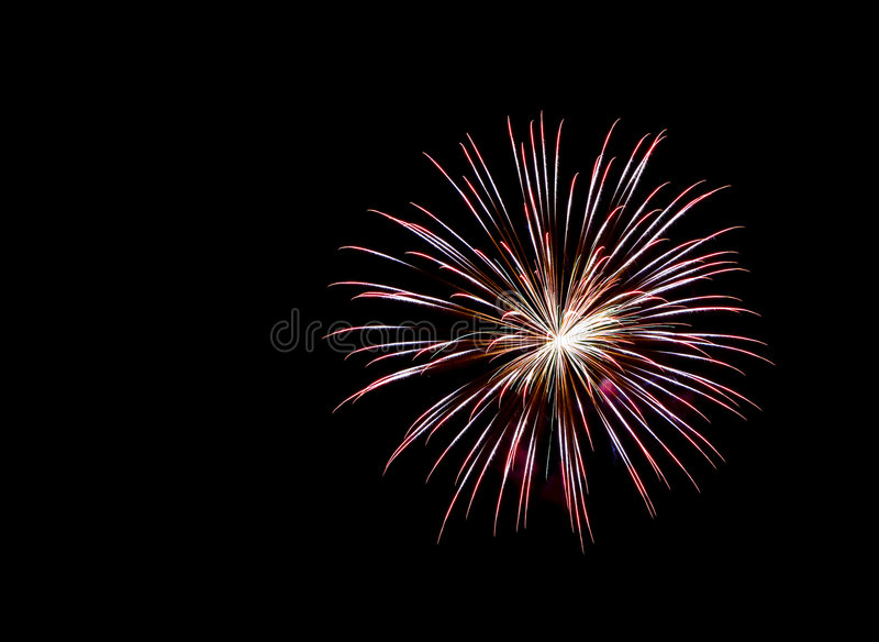 Firework. Image of fire works at night stock photo