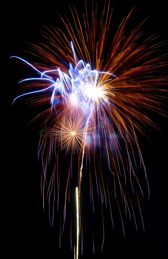 Firework. Image of fireworks at night stock photo