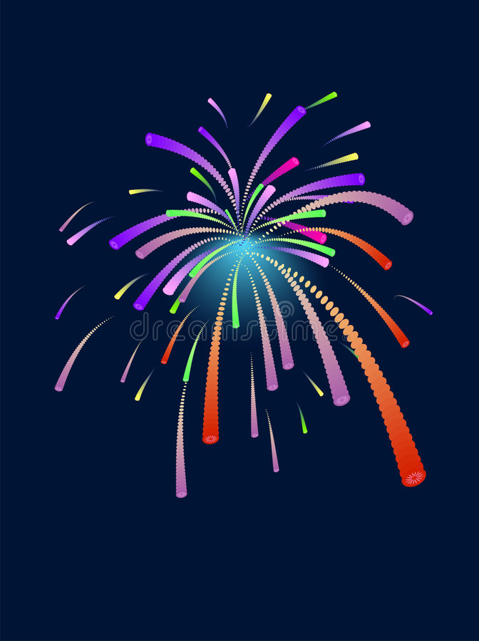 Download Firework stock vector. Image of holiday, celebration, happy - 7135176