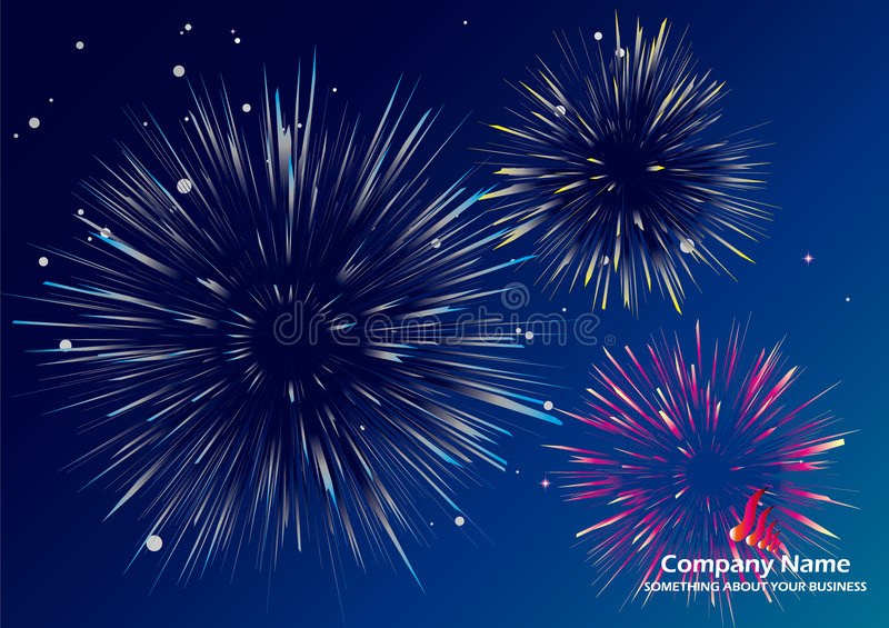 Firework. Please view me more design and portfolios vector illustration