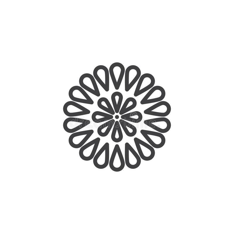 Firework bursting line icon. Linear style sign for mobile concept and web design. Firework explosion outline vector icon. Symbol, logo illustration. Pixel stock illustration