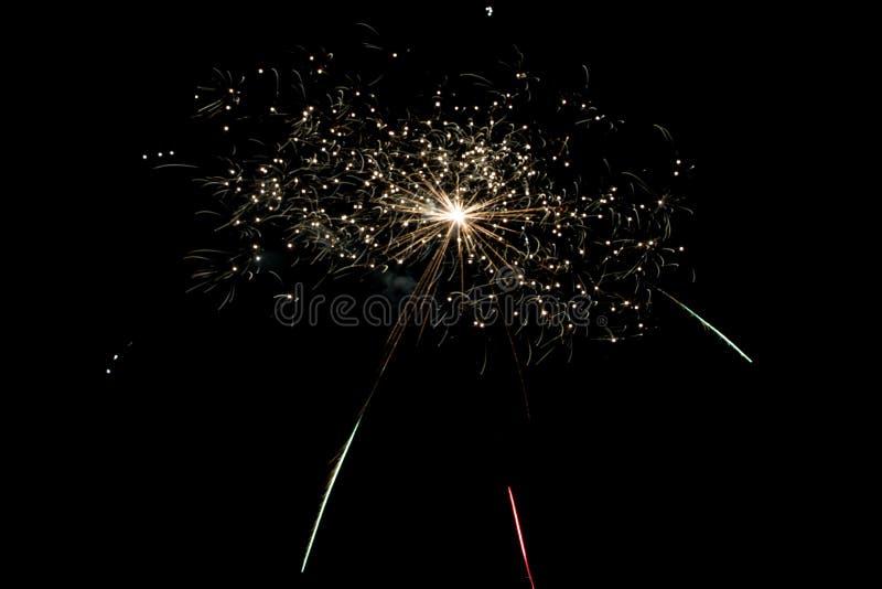 Firework celebration New Year stock photo