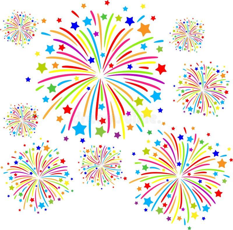 Firework. Colorful firework on white background. eps10 stock illustration