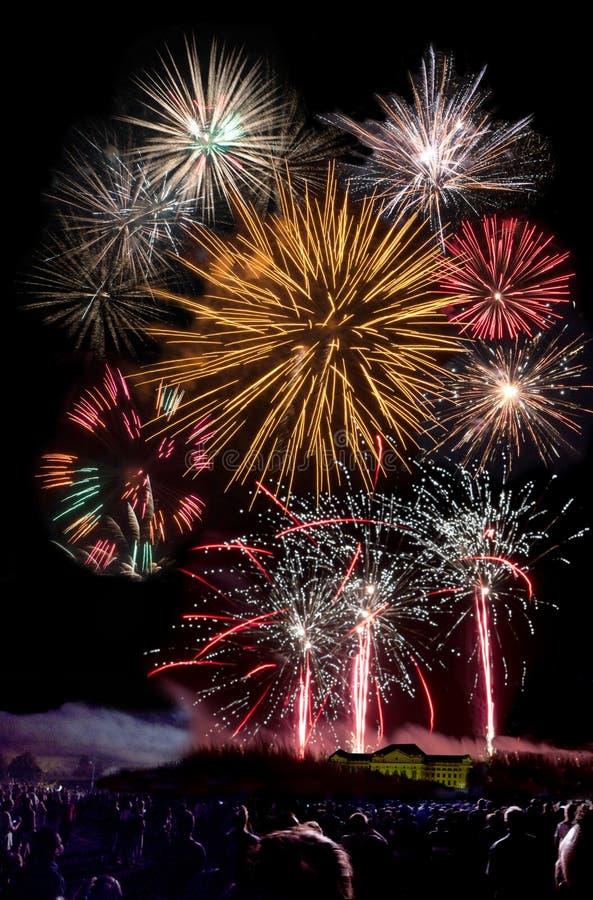 Firework at Debrecen royalty free stock photos