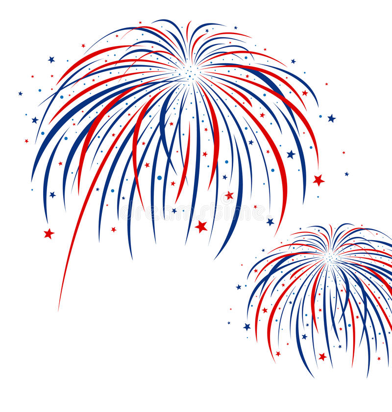 Firework design. On white background vector illustration
