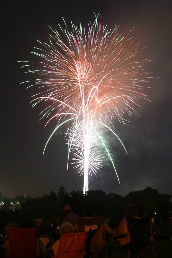 Firework Display 001a royalty free stock photo