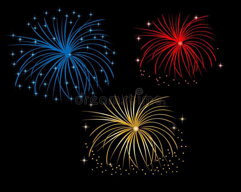 Firework Display At Night Royalty Free Stock Photo