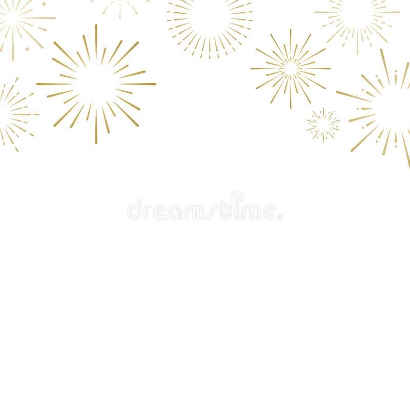 Firework explosions background design vector royalty free illustration