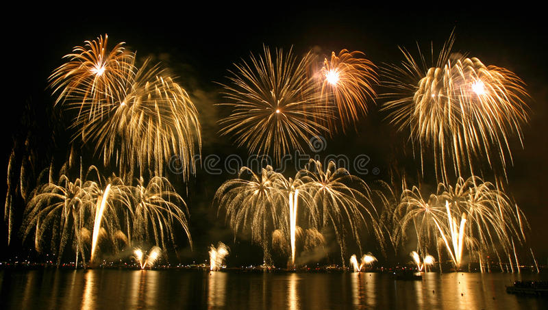 Firework festival stock photo
