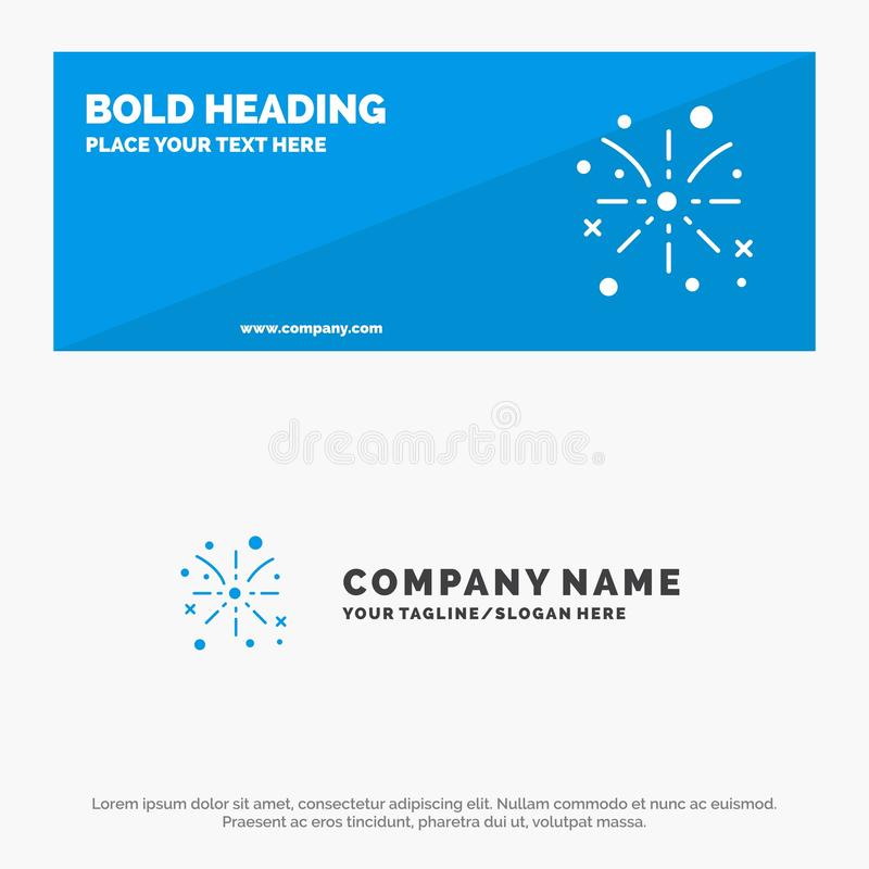 Firework, Fire, Easter, Holiday SOlid Icon Website Banner and Business Logo Template royalty free illustration