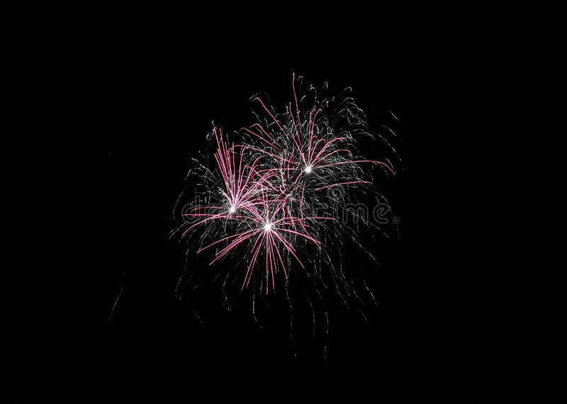 Firework. S, multicolor, celebration, night, long, longexposure, glowing, light, background, black, dark, sky, blurred royalty free stock photos
