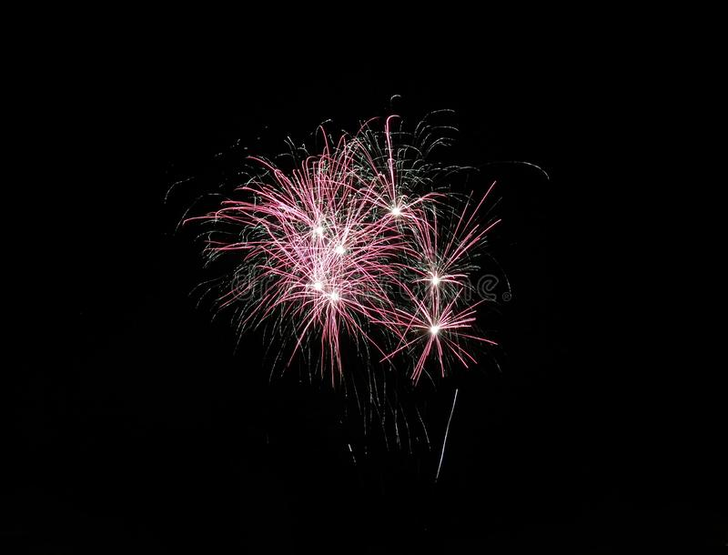 Firework. S, multicolor, celebration, night, long, longexposure, glowing, light, background, black, dark, sky, blurred royalty free stock photography