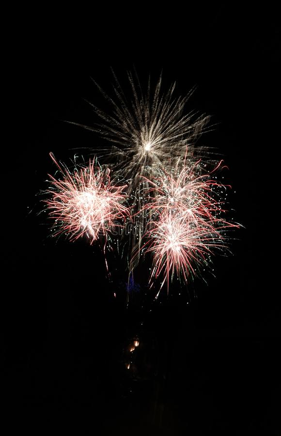 Firework. S, multicolor, celebration, night, long, longexposure, glowing, light, background, black, dark, sky, blurred stock photos