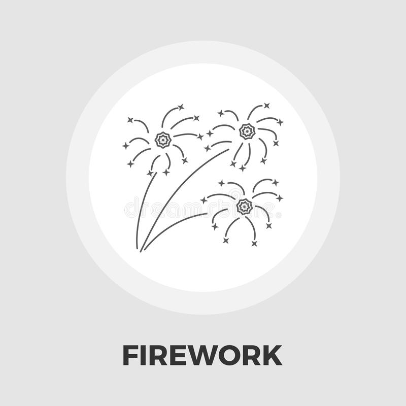 Firework flat icon vector illustration