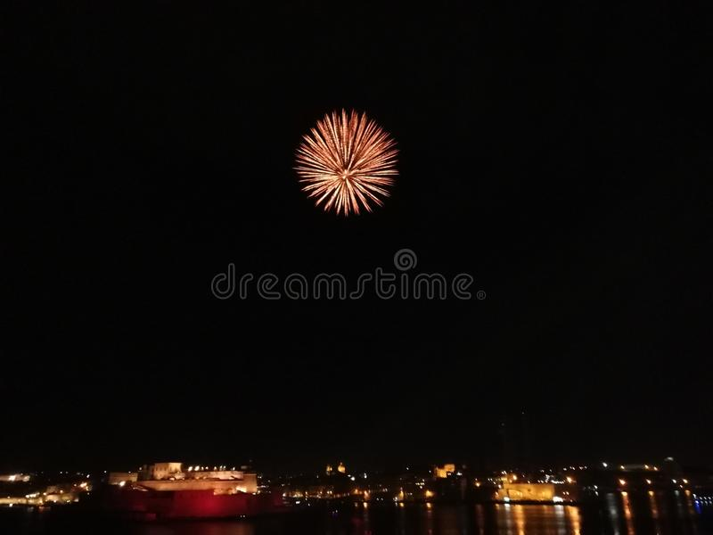 Firework Grand Harbour stock images