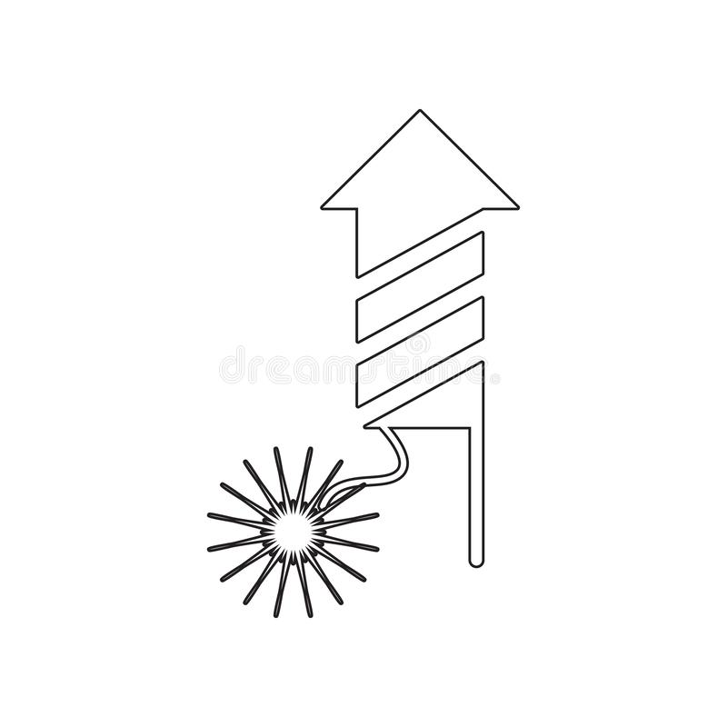Firework icon. Element of winter for mobile concept and web apps icon. Outline, thin line icon for website design and development. App development on white vector illustration