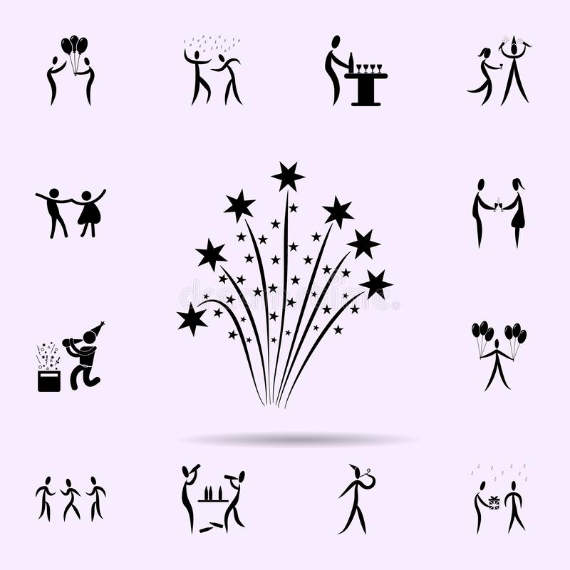 Firework icon. Party icons universal set for web and mobile. On color background royalty free illustration