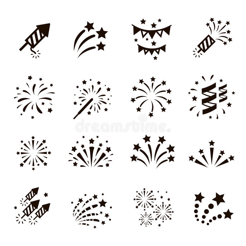 Free Firework Icon Set , Vector Stock Images - 64074414
