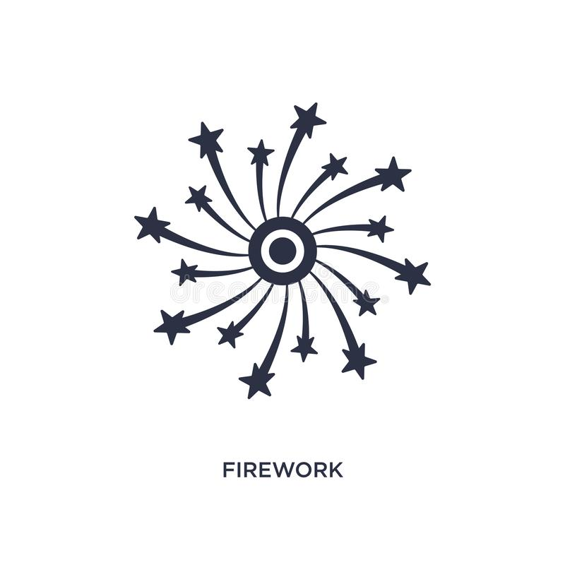 Firework icon on white background. Simple element illustration from love & wedding concept. Firework icon. Simple element illustration from love & wedding stock illustration