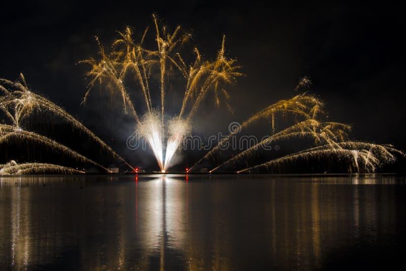Firework ignis brunensis stock photo