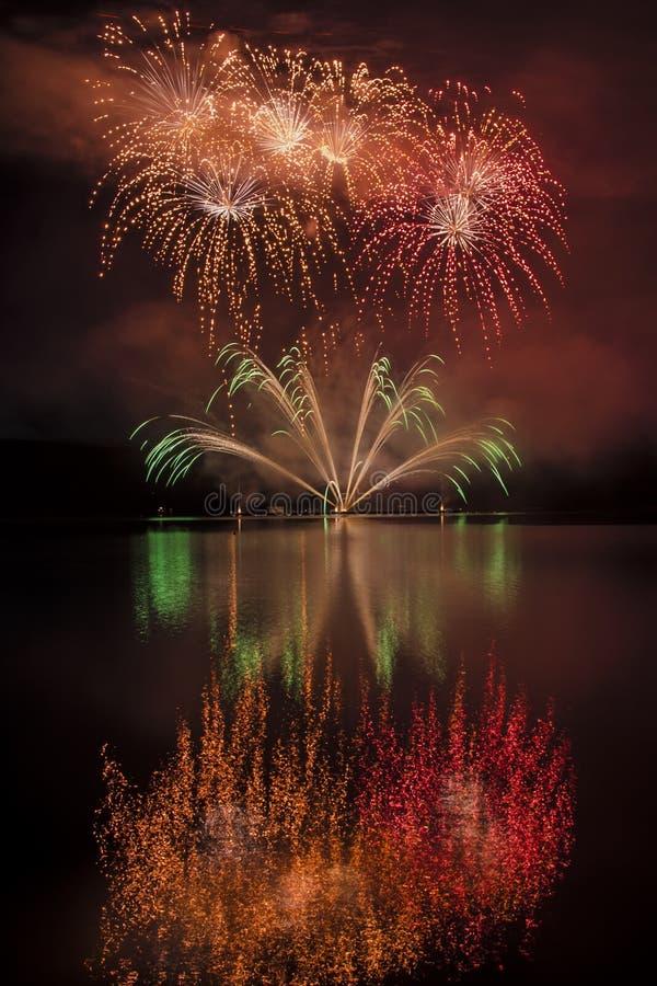 Firework ignis brunensis royalty free stock photography