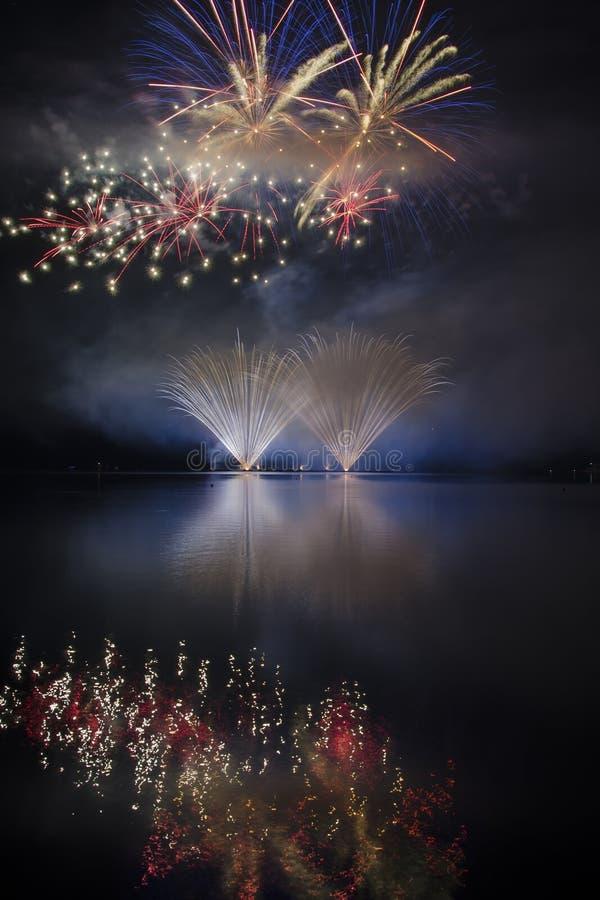 Firework ignis brunensis royalty free stock images