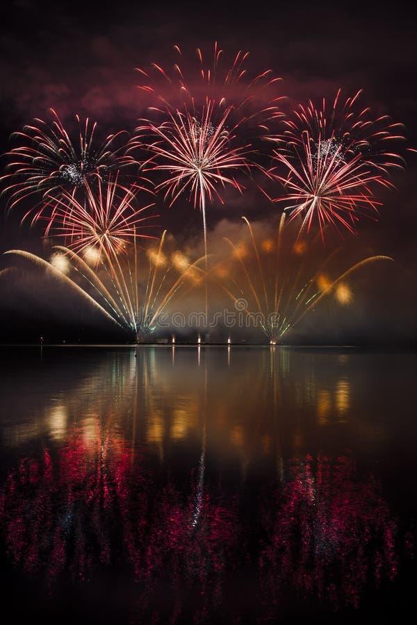 Firework ignis brunensis royalty free stock photos