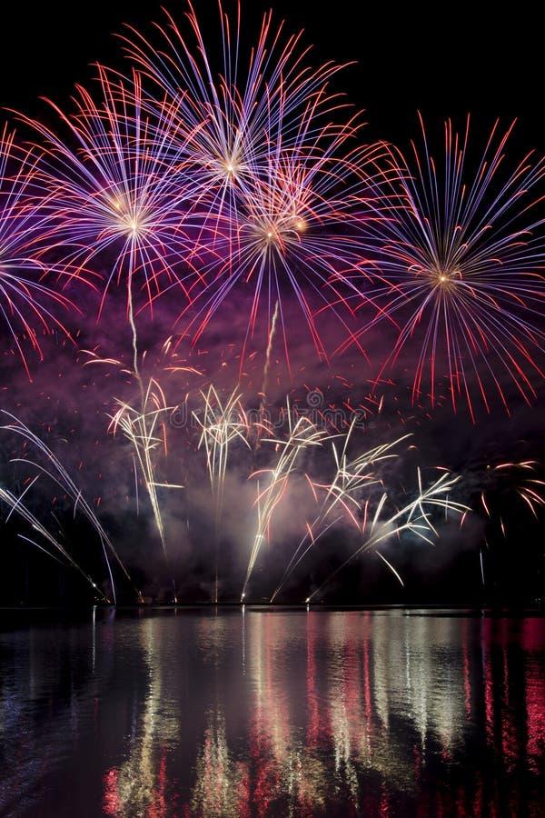 Firework ignis brunensis royalty free stock photo
