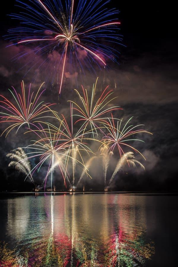 Firework ignis brunensis stock photography