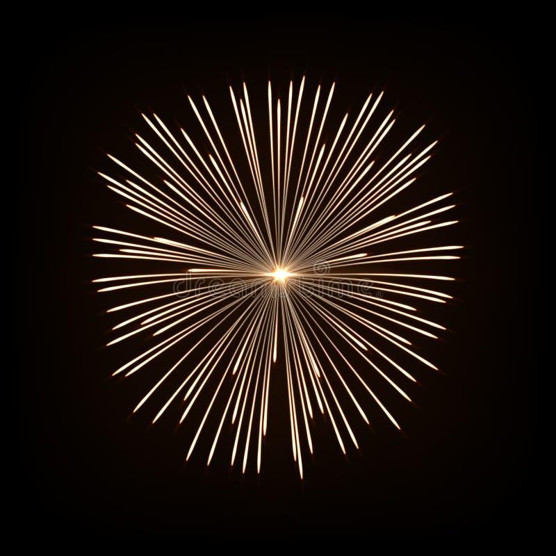 Firework isolated on dark background. Vector design element. Firework isolated on dark background. Vector design element royalty free illustration