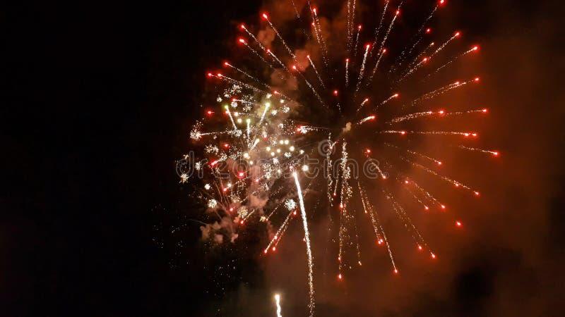 Firework light up the sky stock image