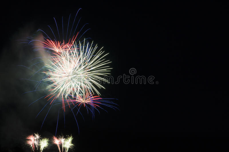 Firework in the night sky stock photos