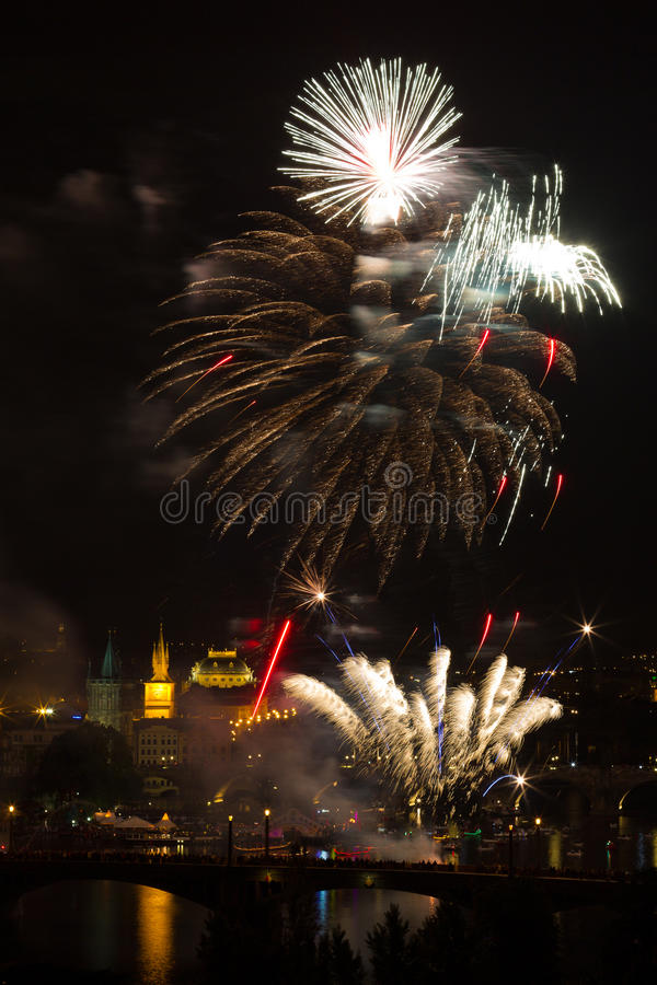 Download Firework Over Vltava River Stock Photo - Image: 22595550