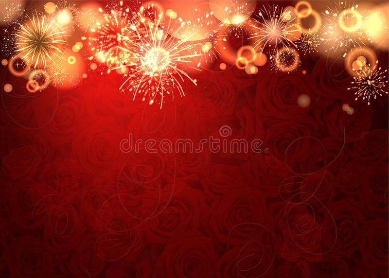 Firework royalty free illustration
