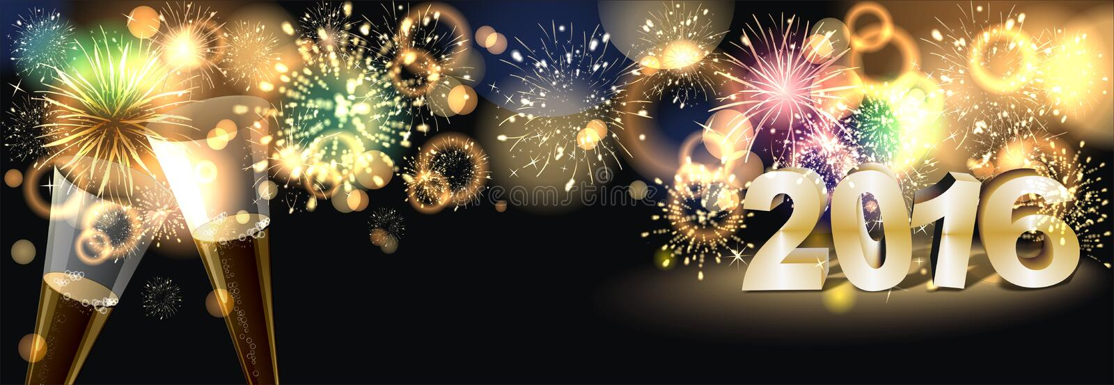 Firework. Party background with colorful firework royalty free illustration