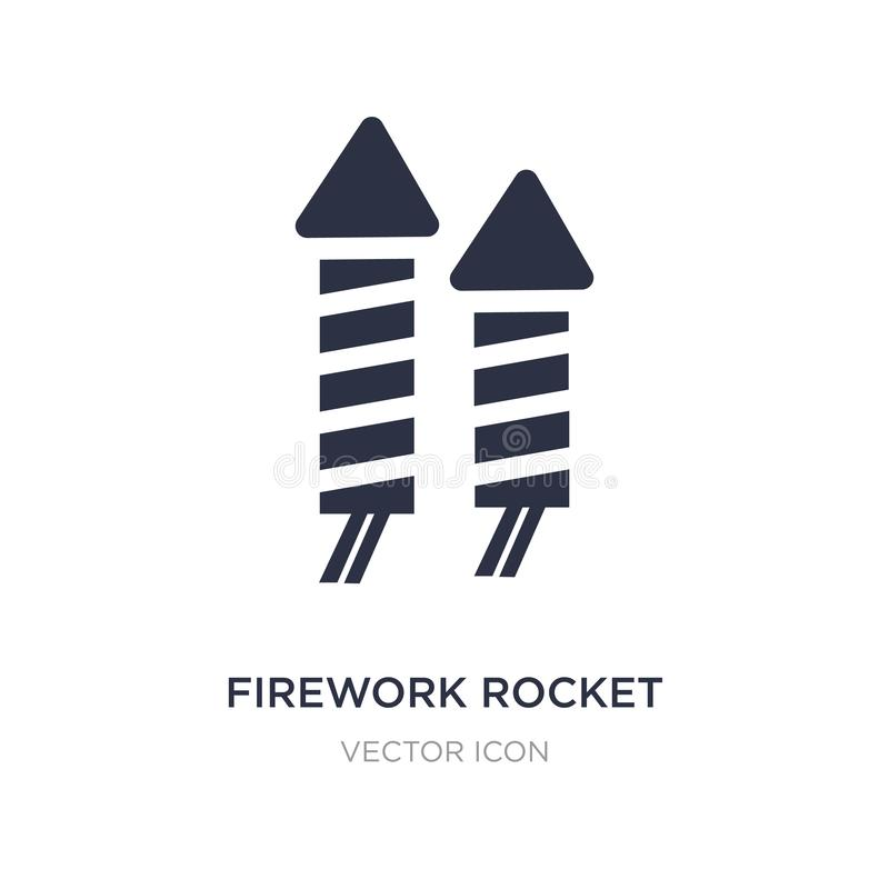 Firework rocket icon on white background. Simple element illustration from Party concept. Firework rocket sign icon symbol design stock illustration