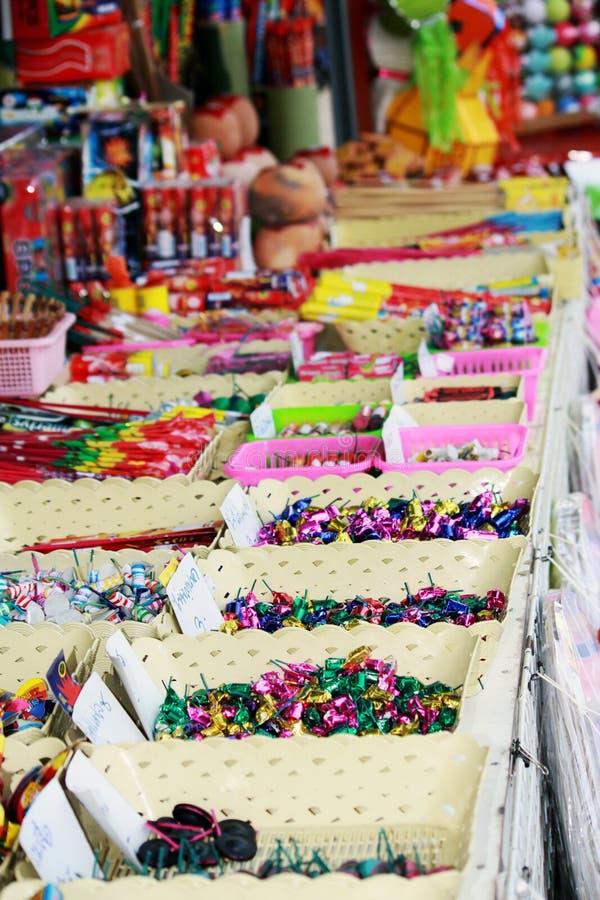 Firework shop stock photo