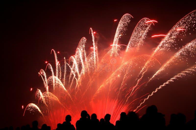 Firework show stock image